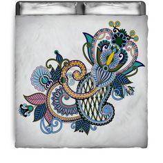 Hand Drawn Paisley Flower Comforter at http://www.visionbedding.com/original-hand-draw-line-art-ornate-flower-design-queen-full-comforter-p-3093376.html