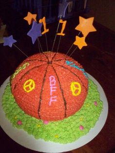 Meagan's 11th birthday cake! Designed by her! ~8/11