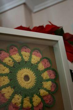 Mandala de flor listo para decorar el estudio ;D #MiTrabajo #Crochet #Ganchillo @Juana Sanchez