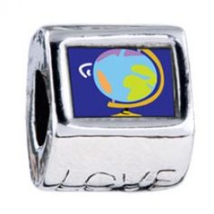 Globe Map Photo Love Charms  Fit pandora,trollbeads,chamilia,biagi,soufeel and any customized bracelet/necklaces. #Jewelry #Fashion #Silver# handcraft #DIY #Accessory