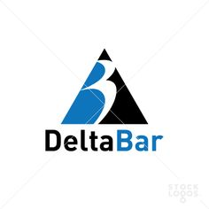 """This logo is combination of a triangle (Delta) and the letter """"B"""" as Bar! Can be use for a bar or any other business with a little changes!"""