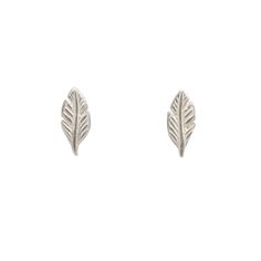 feather stud earrings, sterling silverfeather stud earrings, sterling silver