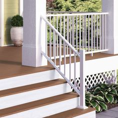 The durable, yet minimal ALX Classic Aluminum Railing won't obstruct your view and its rails come predrilled for proper baluster spacing. #diyrailing #diy #railing #aluminumrailing #metalrailing Composite Deck Railing, Metal Deck Railing, Stair Railing Kits, Deck Railing Systems, Baluster Spacing, Standard Staircase, Deck Posts, Deck Lighting, Deck Design