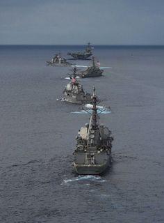 USS Theodore Roosevelt leads the fleet