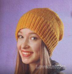 Спицами шапка-носок с широкой резинкой фото к описанию