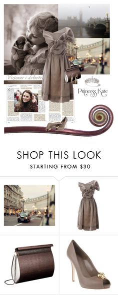 """Pretty as a Princess"" by sharmarie ❤ liked on Polyvore featuring Cartier, Vivienne Westwood, EMBAWO, Alexander McQueen, Merle O'Grady, princess and puppy, princess kate, contest, vivienne westwood and kate middleton"