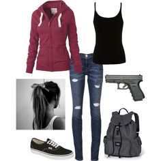 """Zombie Apocalypse"" by pinkbird98 on Polyvore"
