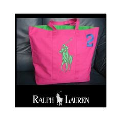 2de732dd08  Sale  Polo Ralph Lauren Pony Women Tote Shopper Handbag Pink  2 Ralph  Lauren