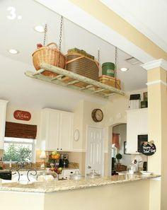83 best pot rack ideas images kitchen organization kitchen rh pinterest com