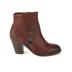 H Shoes by Hudson Women's Slade Snake Leather Heeled Ankle Boots - Tan: Image 01