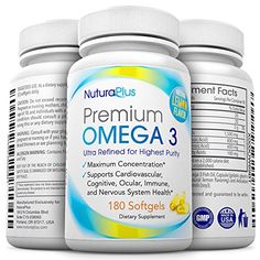 Premium Omega 3  180 Triple Strength Pills  800mg EPA  600mg DHA Essential Fatty Acids  Ultimate Natural Pharmaceutical Grade Fish Oil  Lemon Flavored  Burpless Moleculary Distilled * See this great product.
