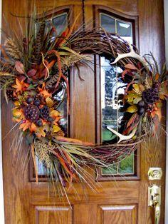 My first deer wreath 2014.....MB
