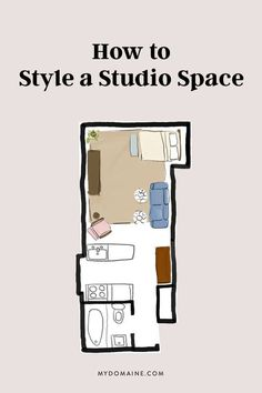 Do you live in a studio that you're struggling to decorate? Here are four layouts that prove you really can have it all in a small space.