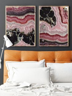 This is a listing for 2 Large Prints (Print #021 &020) Pink Lace Agate - Fine Art Print    To Note: Some Sizes will Crop when printed  ➤ These Sizes Will Not Crop when Printed 8x12 11x16.5 12x18 16x24 18x27 24x36 30x45   ➤These Sizes will Crop when Printed 8x10 11x14 16x20 20x24 24x30   Message me if you would like to see the file cropped to any size before you order   PRINTING This Listing is for a Print on Archival Acid free photo Paper Matte with a Protective Lustre Coating I also offer…