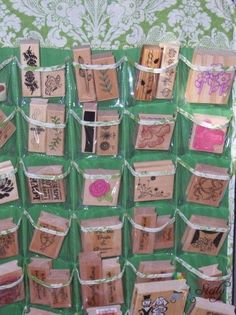 Simple Craft Storage Solutions - thinking I could use this to store bits of ribbon, cards, etc. for easy access when I need to wrap a present...
