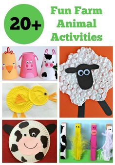 40 Fantastic Farm Animal Activities for Kids Fun Farm Animal activities are always a winner with kids. Toddlers and preschoolers especially love to craft farm animals. Find ideas for cows, pigs, sheep, chickens and ducks. Farm Animals Preschool, Animal Activities For Kids, Farm Animal Crafts, Pig Crafts, Farm Activities, Farm Crafts, Animal Crafts For Kids, Animal Projects, Toddler Crafts