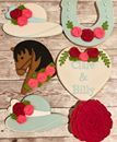 Rescheduled Kentucky Derby bridal shower! #wedding #kentuckyderbycookies #bridalshower #roses #ctcookietreats Custom Cookies, Kentucky Derby, Sugar Cookies, Bridal Shower, Roses, Treats, Texture, Wedding, Shower Party