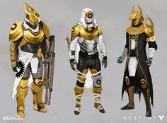 """Destiny: the only game where you can be an angry robot dressed like an Egyptian god with a shotgun. Destiny Cosplay, Destiny Comic, Destiny Game, Armor Concept, Concept Art, Character Concept, Character Art, Destiny Hunter, Cyberpunk"