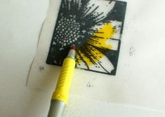 TUTORIAL: Stained glass window technique. Heat emboss using black powder on vellum. Color reverse side with markers.