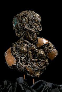 #Gladiator - (2008) 60x46 - made with #copper #brass #bronze #silver #sculpture #metalart #art #rome #colosseo #contemporaryart