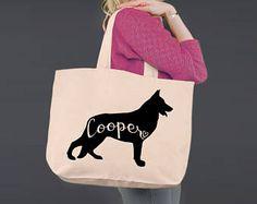 German Shepherd | Tote Bag | Canvas Tote Bag | Beach Tote | Canvas Tote | Shopping Tote | Shopping Bag | Dog Tote | Korena Loves