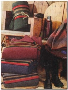 Camp Blankets~I love blankets. Especially thick 'wool like' blankets, fleece blankets, and sheepskin/suede blankets.