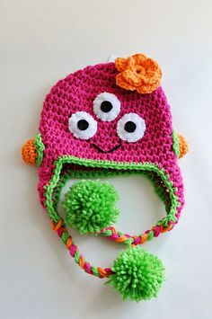 Three Eyed Monster Crochet Hat by Just Be Happy Crochet, via Flickr