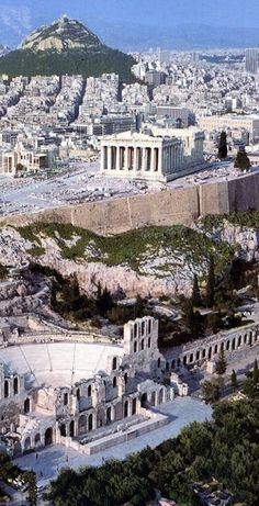 GRECIA Herodes Atticus Theater, The Parthenon and Lycabettus Hill ~ This is Athens Places Around The World, Oh The Places You'll Go, Places To Travel, Places To Visit, Around The Worlds, Travel Local, Travel Destinations, Greece Destinations, Greek Cruise