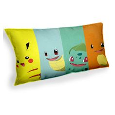 Pokemon Pikachu Squirtle Charamander bulbasaur- Custom Geek Fabric... ($10) ❤ liked on Polyvore featuring home, home decor, throw pillows, inspirational throw pillows, fabric home decor and inspirational home decor