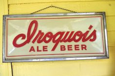 Vintage 1950s or 1960s Iroquois Beer light up by retrowarehouse, $35.00