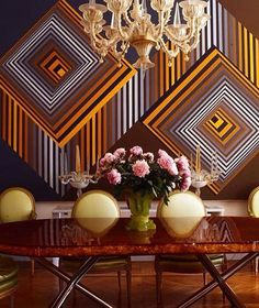 :: OPTICAL ILLUSION :: a dining room after my own heart