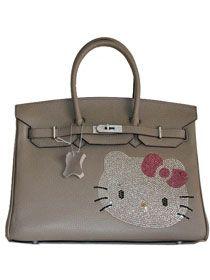 1d283f6d6 Hermes Birkin Hello Kitty 35CM Togo Leather Bag Grey HK0001 $338.00 This  Hermes birkin hello kitty. Hello Kitty HandbagsHello ...