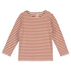 Gray Label striped T-shirt is made from extra-soft organic cotton jersey. Designed for everyday wear, it has a relaxed fit with neat long sleeves and a wide boat neckline. Gray Label, Short Kimono, Stripes Fashion, Striped Tee, Casual Tops, T Shirts, Organic Cotton, Kids Outfits, Long Sleeve Tees