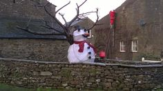 Someone's getting into the swing of Christmas at West Burton in Wensleydale!