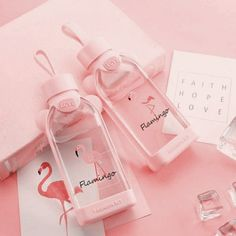 Best Square Cactus Flamingo Glass Cup Water Bottle Portable Water Cup is hot-sale at wholesale prices now, buy Square Cactus Flamingo Glass Cup Water Bottle Portable Water Cup and be enjoyable Mobile. Pink Love, Cute Pink, Pretty In Pink, Diy Unicorn, Cute Water Bottles, Drink Bottles, Catty Noir, Accessoires Iphone, Peach Aesthetic