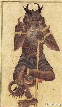 Demon Possession, Frog Illustration, Japanese Monster, Demonology, Buddhist Art, Medieval Art, Calligraphy Art, Ancient Art, Sumerian