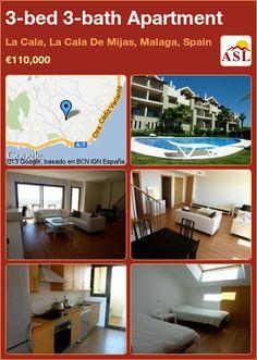 3-bed 3-bath Apartment in La Cala, La Cala De Mijas, Malaga, Spain ►€110,000 #PropertyForSaleInSpain