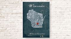 Make your place happy with this original and cozy poster about Wisconsin, printed on higher quality matte paper that looks stunning.    There is an