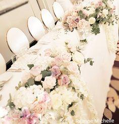 @theweddingdecorators.co.uk @palmtreescatering.com #headtableflowers #reannemichelledecor Lace Wedding, Wedding Dresses, Event Decor, Wedding Events, Table Decorations, Instagram, Home Decor, Bride Dresses, Bridal Gowns