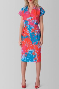 It's beautiful and comfortable to wear, and the floral colorful design looks really feminine. For a romantic date-night dinner, wear it with heels and a clutch. If you want to wear it on a casual afternoon or at the office, style it with sandals and a smart jacket. Back neck to hem measures 109cm/43 inch. You can machine wash this item but please only on a cool cycle and keep the iron heat low, as recommended on the care label. Feel free to give your dress a dry clean if you want to…