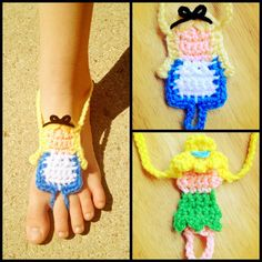 Crochet Disney Princess styled Barefoot Sandals