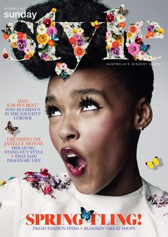 Janelle Monáe: the new face of Cover Girl! Mise En Page Magazine, Hair Afro, Magazin Design, Magazine Cover Design, Magazine Covers, Portraits, Celebrity Beauty, Cultura Pop, Black Is Beautiful