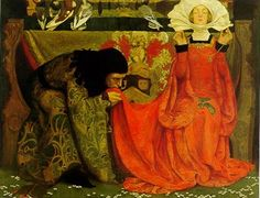 'The Pale Complexion of True Love' (1899) by English pre-Raphaelite painter Eleanor Fortescue-Brickdale