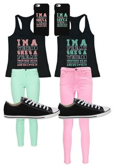 best friend outfit by petersonalexis34 on Polyvore featuring Boohoo, French Connection, Converse and Samsung