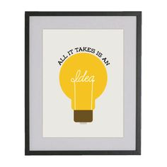 Idea print- great for craft room, classroom, or even garage.