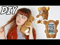 DIY Plush Bear Phone Case | Make Thrift Buy #23 - YouTube