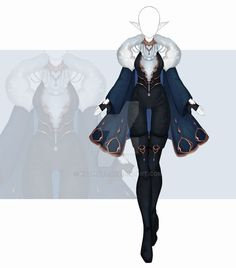 Anime Outfits, Cool Outfits, Fashion Outfits, Fashion Design Drawings, Fashion Sketches, Kleidung Design, Elf Clothes, Female Armor, Clothing Sketches