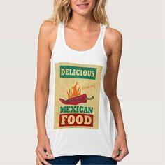 Mexican Food Flowy Racerback Tank Top Tank Tops