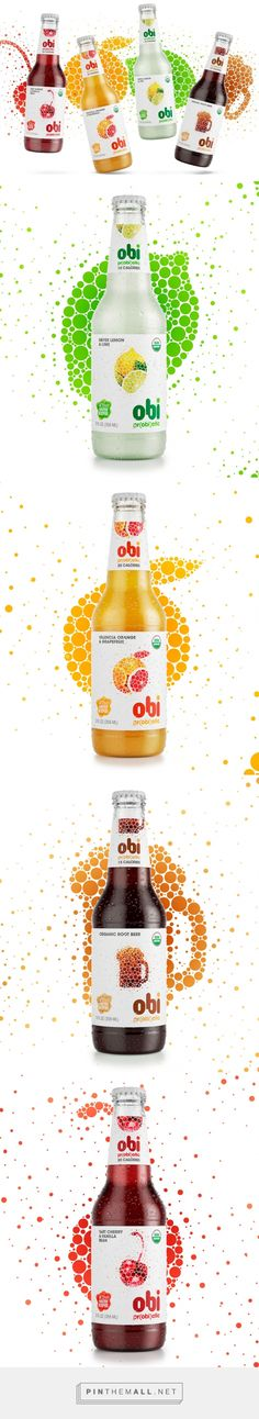 Lovely bubbles on Obi Pr(obi)otic Soda label - design by The Creative Method - http://www.packagingoftheworld.com/2016/05/obi-probiotic-soda.html