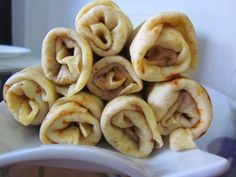**Nalysnyky**  These slim pancakes are a Ukrainian spin on French crepes. They taste great, and consist of mainly of eggs, whole milk, flour, and water.